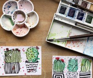 atelier encre aquarelle en ligne